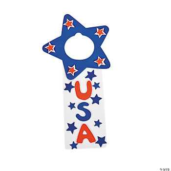 """USA"" Doorknob Hanger Craft Kit"