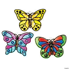 Plastic Butterfly Suncatchers