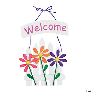 spring welcome sign craft kit oriental trading