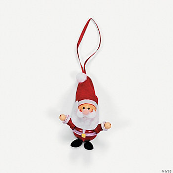 Jingle Bell Santa Ornament Craft Kit