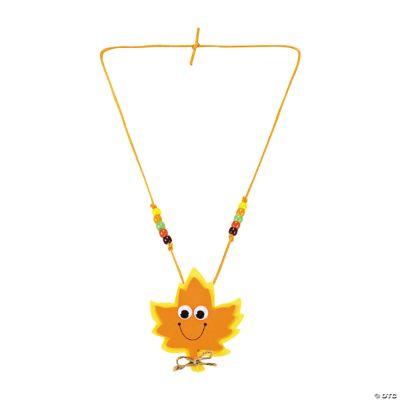 Smile Face Leaf Necklace Craft Kit