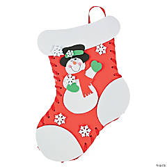 Lacing Holiday Christmas Stocking Craft Kit