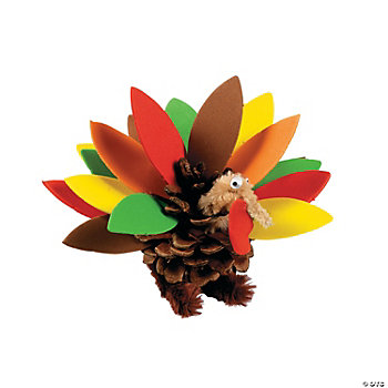 Pinecone Turkey Craft Kit