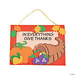 """In Everything Give Thanks"" Door Hanger Craft Kit"