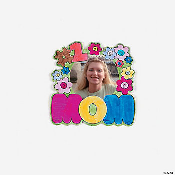 Color Your Own Mom Photo Frame Magnets