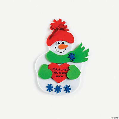 """Jesus Loves You Snow Much"" Snowman Magnet Craft Kit"