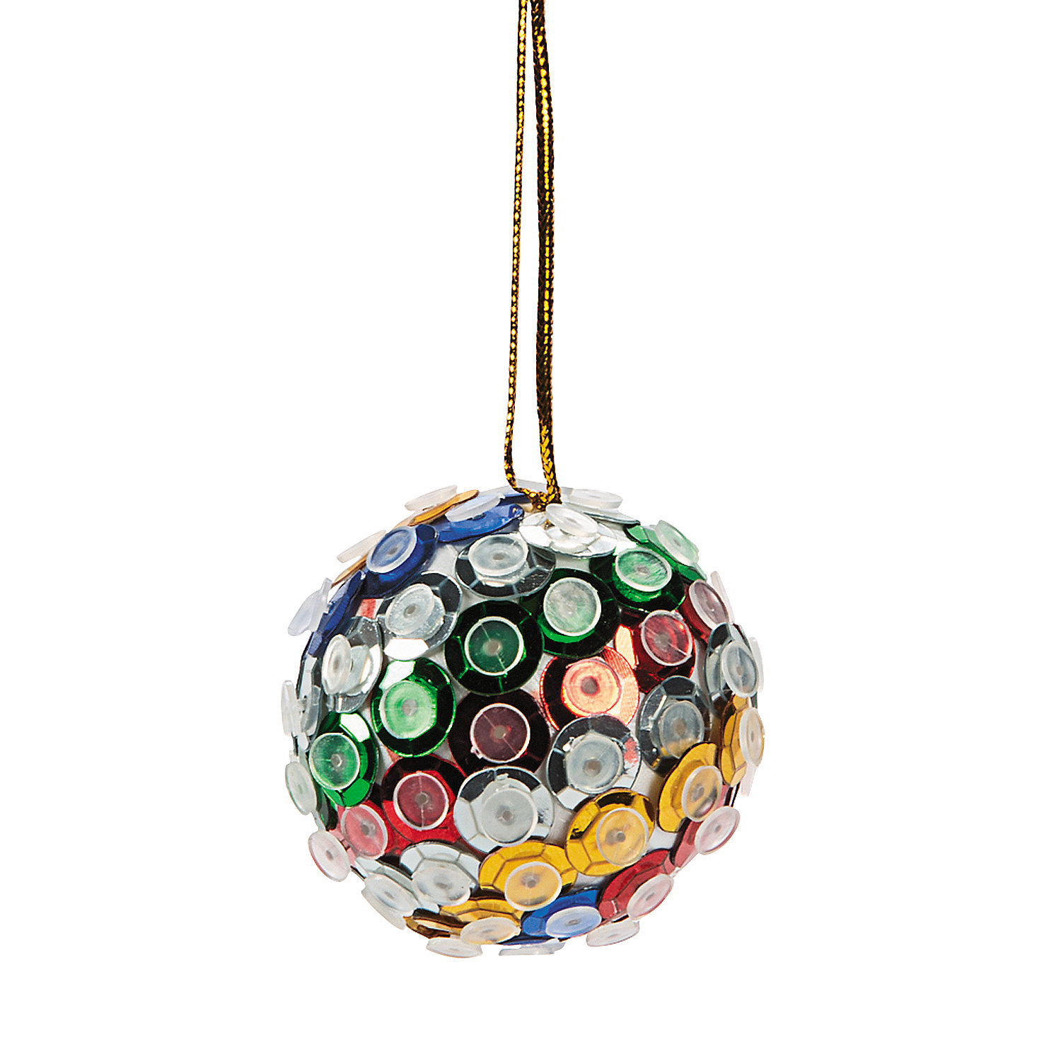 Sequin ball christmas ornament craft kit oriental trading for Christmas ornaments sale