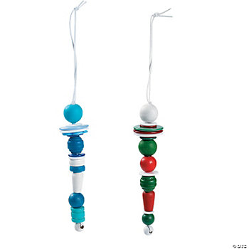 Wooden Bead Icicle Ornament Craft Kit
