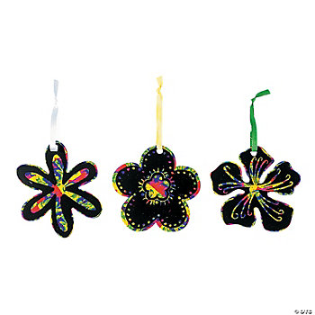 Magic Color Scratch Flower Ornaments