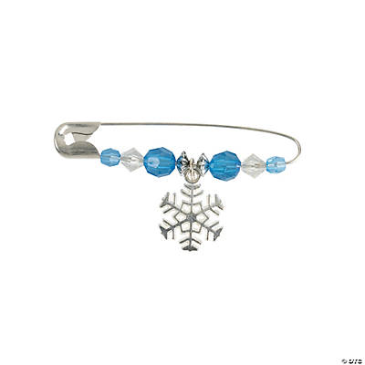 Beaded Snowflake Charm Pin Craft Kit