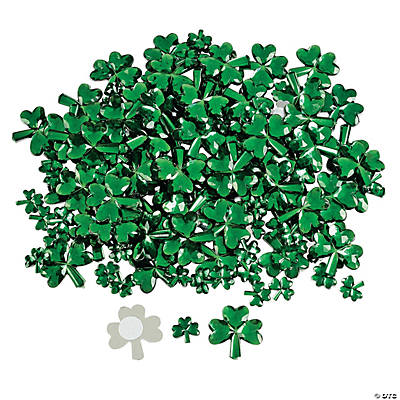 Self-Adhesive Shamrock Jewels