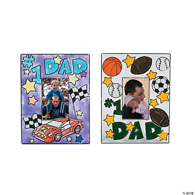 """#1 Dad"" Suncatcher Picture Frames"