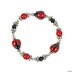 Beaded Ladybug Bracelet Craft Kit