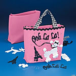 Pink Poodle Tote Bag Craft Kit