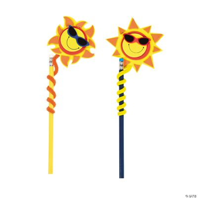 Smile Face Sun Pencil Topper Craft Kit