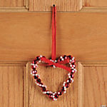 Beaded Heart Ornament Craft Kit