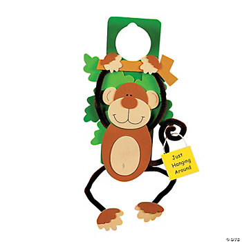 Monkey Doorknob Hanger Craft Kit