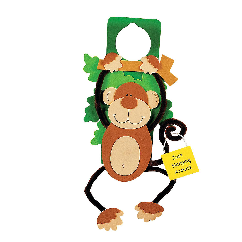Monkey Doorknob Hanger Craft Kit Oriental Trading