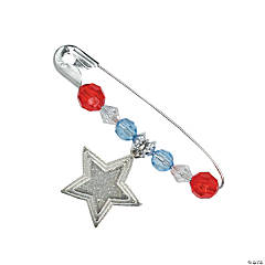 Beaded Metal Patriotic Pin Craft Kit