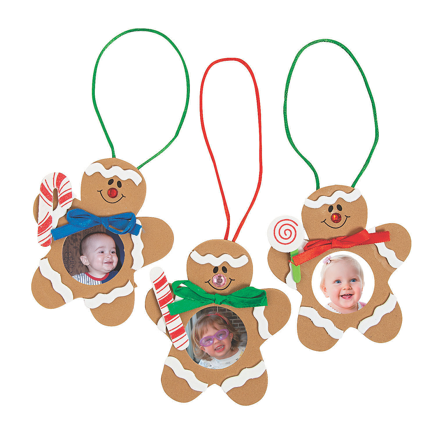 Gingerbread man picture frame christmas ornament craft kit oriental