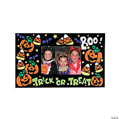 Color Your Own Fuzzy Halloween Photo Frame Magnets