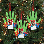 Handprint Picture Frame Christmas Ornament Craft Kit