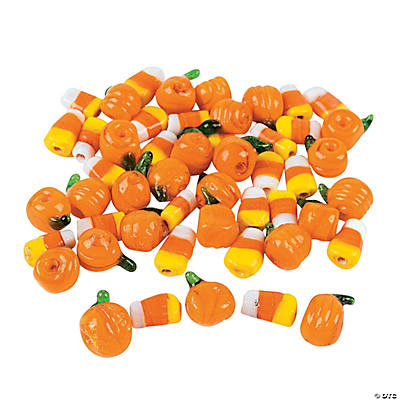 Glass Halloween Beads