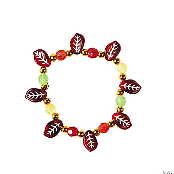 Beaded Leaf Bracelet Craft Kit