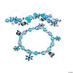 Beaded Snowman Charm Bracelet Craft Kit
