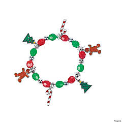 Beaded Holiday Charm Bracelet Craft Kit