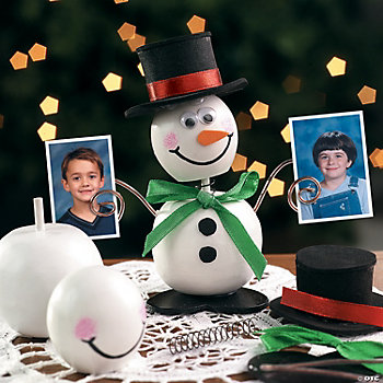 Snowman Bobblehead Photo Holder Craft Kits