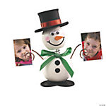 Wooden Snowman Bobblehead Photo Holder Craft Kit
