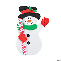 Snowman Clip Magnet Craft Kit