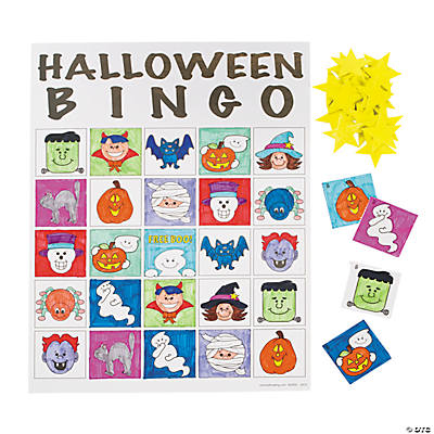 Color Your Own Halloween Bingo Games