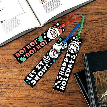 Color Your Own Fuzzy Holiday Bookmarks