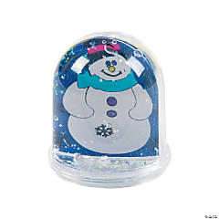 Color Your Own Snowman Snow Globes