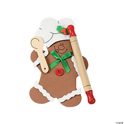 Gingerbread Man Rolling Pin Christmas Ornament Craft Kit