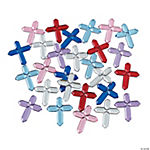 Plastic Self-Adhesive Cross Jewels