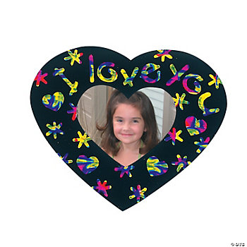 Magic Color Scratch Heart-Shaped Photo Frame Magnets