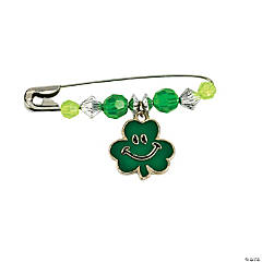 Beaded Shamrock Charm Pin Craft Kit