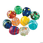 Glass Easter Egg Beads - 1/2