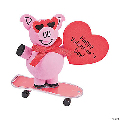Skateboarding Valentine Pig Craft Kit