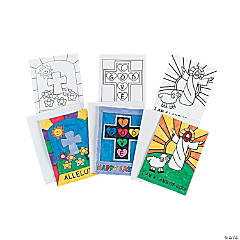 Color Your Own Easter Inspirational Cards
