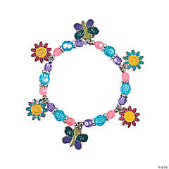 Beaded Butterfly & Daisy Charm Bracelet Craft Kit
