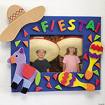 """Fiesta!"" Photo Frame Magnet Craft Kit"