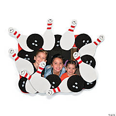 Bowling Picture Frame Magnet Craft Kit