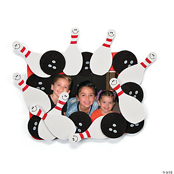 Bowling Photo Frame Magnet Craft Kit