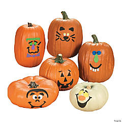 Foam Pumpkin Decorating Craft Kit