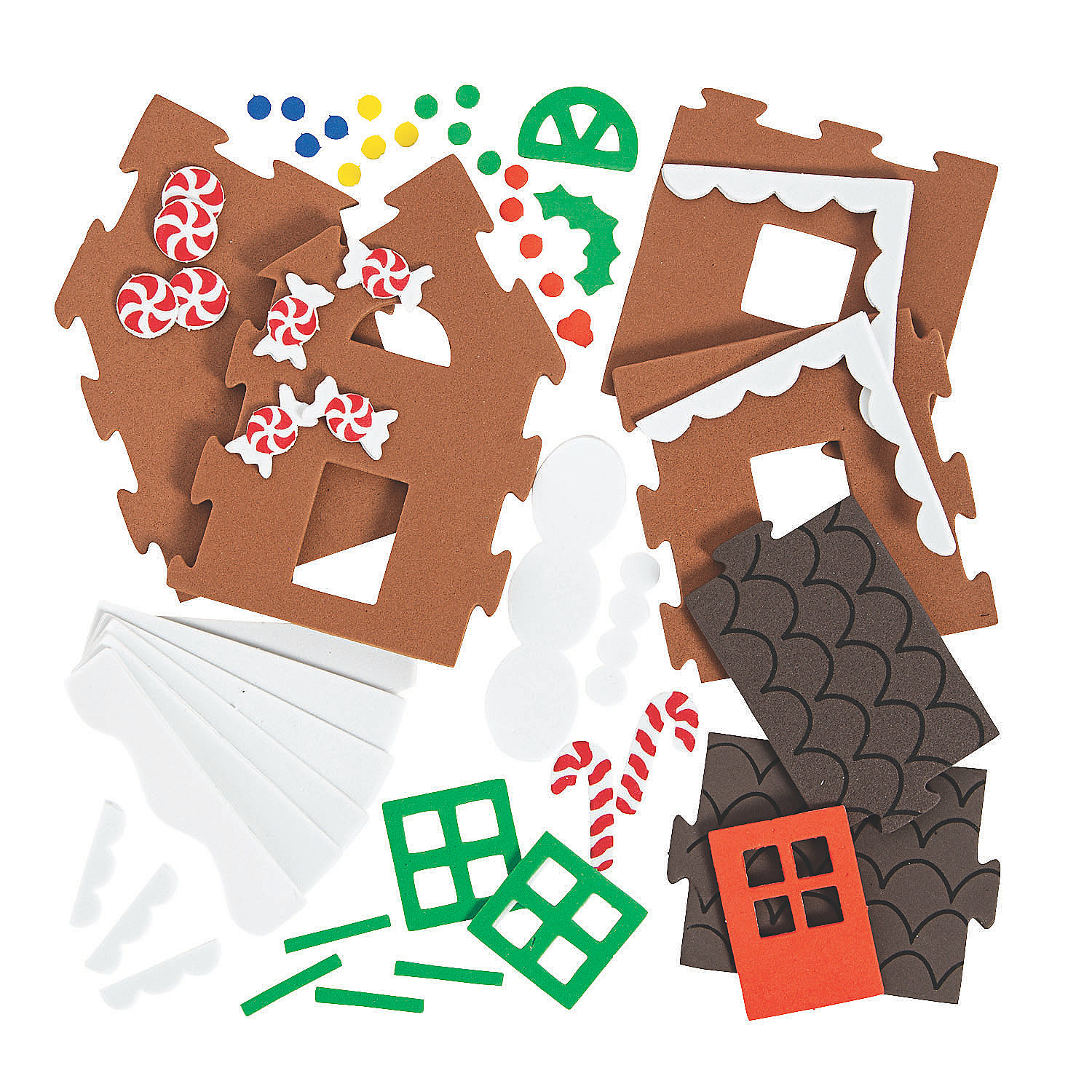 3D Gingerbread House Christmas Craft Kit Oriental Trading
