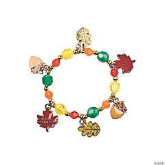 "Beaded ""Give Thanks"" Charm Bracelet Craft Kit"